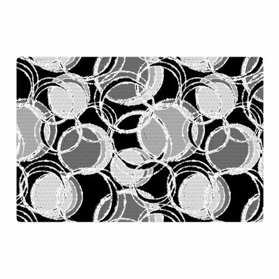 Julia Grifol Simple Circles Black/Gray Area Rug Rug Size: 2 x 3