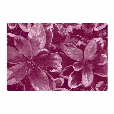 Julia Grifol Warm Leaves Digital Red Area Rug Rug Size: 4 x 6