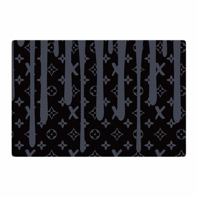 Just L LX Drip Illustration Black/Gray Area Rug Rug Size: 2 x 3