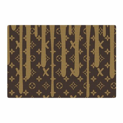Just L LX Drip Abstract Urban Brown Area Rug Rug Size: 4 x 6