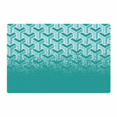 Just L No Yard Urban White/Teal Area Rug Rug Size: 2 x 3