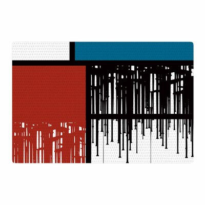 Just L Saint Drips Abstract Red Area Rug Rug Size: 4 x 6