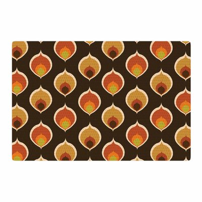 Peacock Vintage Orange/Yellow Area Rug Rug Size: 4 x 6