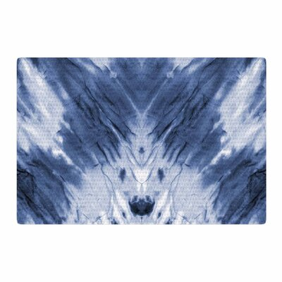 Dye Pattern White/Blue Area Rug Rug Size: 2 x 3