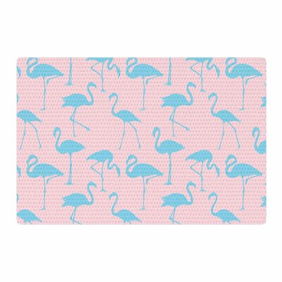 Animals Blue/Pink Area Rug Rug Size: 4 x 6