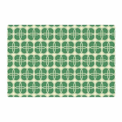 Celtic Crosses Pattern Green Area Rug Rug Size: 2 x 3