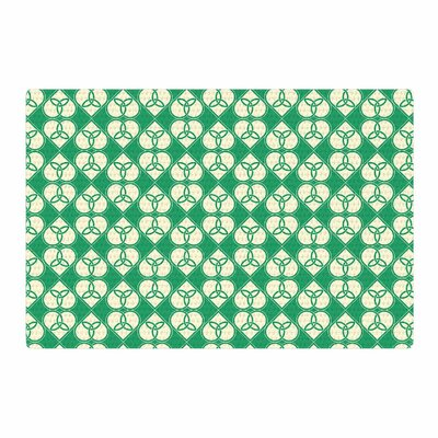Celtic Pattern Green Area Rug Rug Size: 2 x 3