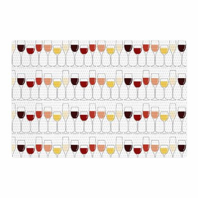 Fine Wines Red/Purple Area Rug Rug Size: 4 x 6