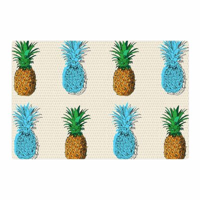 Fineapple Abstract Food White/Pink Area Rug Rug Size: 4 x 6
