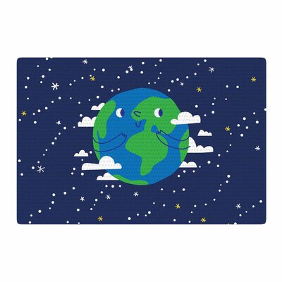 Happy Earth Blue/Green Area Rug Rug Size: 2 x 3