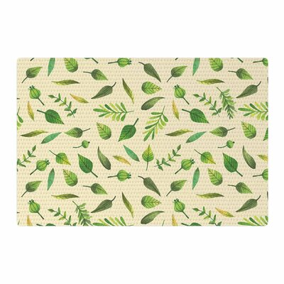 I Be-Leaf in You Beige/Green Area Rug Rug Size: 4 x 6