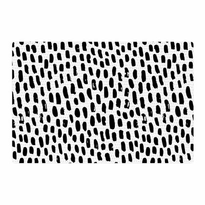 Ink Dots Black/White Area Rug Rug Size: 4 x 6