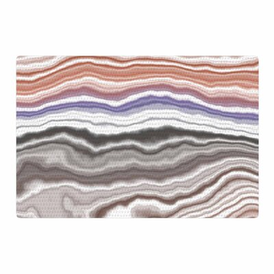 Iris Lake Bed Abstract Geological Gray/White Area Rug Rug Size: 2 x 3