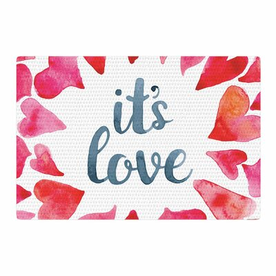 Its Love Red/Pink Area Rug Rug Size: 4 x 6