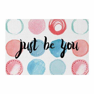 Just Be You Blue/Pink Area Rug Rug Size: 4 x 6