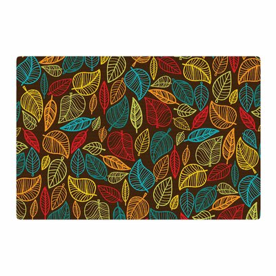 Leaves All Around Brown Area Rug Rug Size: 2 x 3