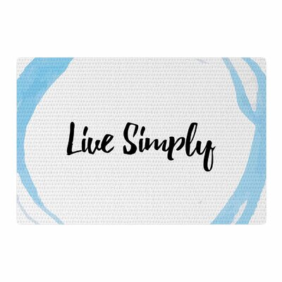 Live Simply Blue/White Area Rug Rug Size: 2 x 3
