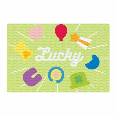 Lucky Green Area Rug Rug Size: 4 x 6