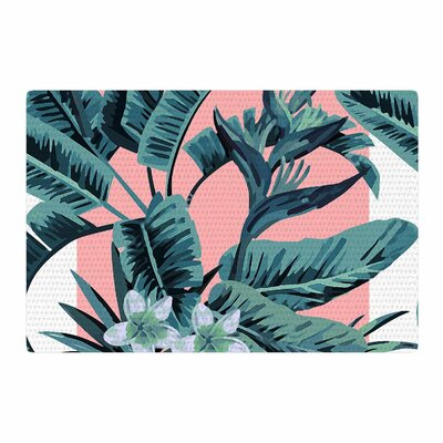 Monstera Pop Art Nature Area Rug Rug Size: 4 x 6