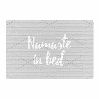 Namaste in Bed White/Gray Area Rug Rug Size: 4 x 6