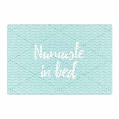 Namaste in Bed Blue/White/Green Area Rug Rug Size: 2 x 3