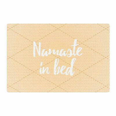 Namaste in Bed Yellow/White Area Rug Rug Size: 4 x 6