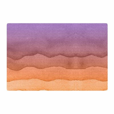 Sunrise Watercolor Ombre/Orange Area Rug Rug Size: 4 x 6