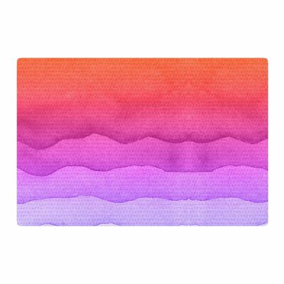 Sunset Abstract Coral/Ombre Area Rug Rug Size: 2 x 3