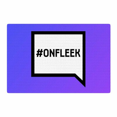 On Fleek White/Purple Area Rug Rug Size: 2 x 3