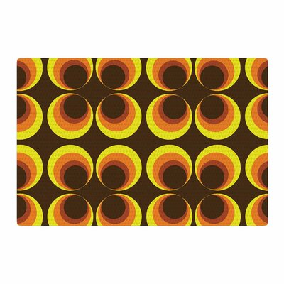 Owl Eye Vintage Yellow/Brown Area Rug Rug Size: 4 x 6