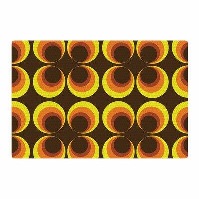 Owl Eye Vintage Yellow/Brown Area Rug Rug Size: 2 x 3