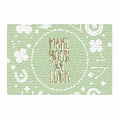 Own Luck Pastel/Green Area Rug Rug Size: 2 x 3