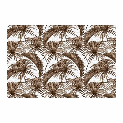Palmtastic Abstract Brown/Tan Area Rug Rug Size: 2 x 3
