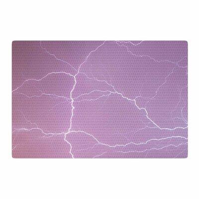 Lightning Pastel/Pink Area Rug Rug Size: 4 x 6