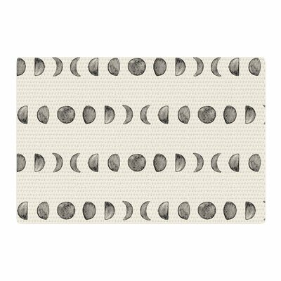 Phases of the Moon Beige/Gray Area Rug Rug Size: 2 x 3