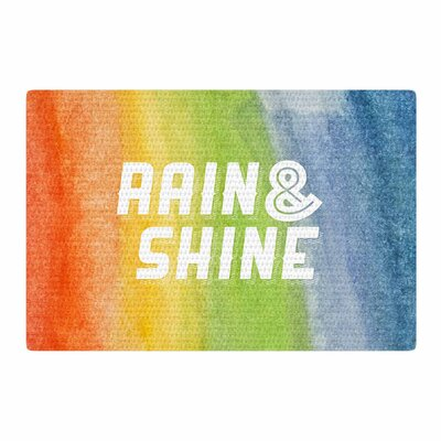 Rain and Shine Abstract Rainbow Area Rug Rug Size: 2 x 3