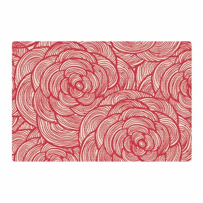 Roses Pink/Red Area Rug Rug Size: 2 x 3