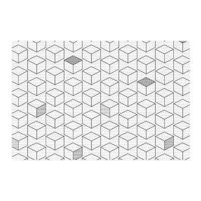 Shade Cubed Gray/White Area Rug Rug Size: 2 x 3