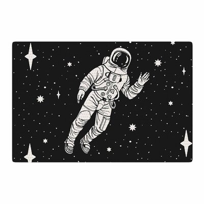 Space Adventurer Black Area Rug Rug Size: 4 x 6