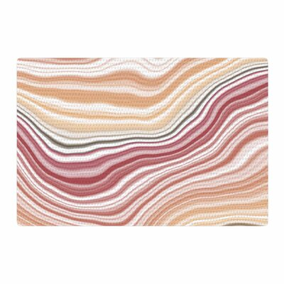 Sunset Brick Maroon Yellow Area Rug Rug Size: 4 x 6