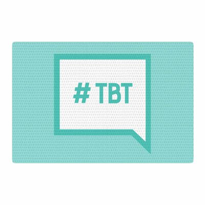 Throw Back Thursday Teal/White Area Rug Rug Size: 4 x 6