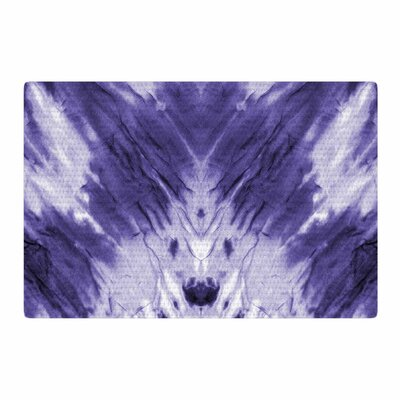 Violet Dye Digital Purple Area Rug Rug Size: 4 x 6