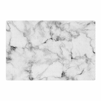 Marble Gray/White Area Rug Rug Size: 2 x 3