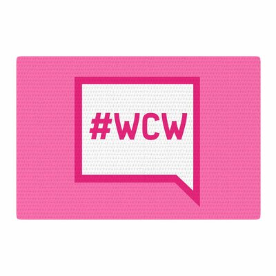 Women Crush Wednesday Pink/White Area Rug Rug Size: 4 x 6