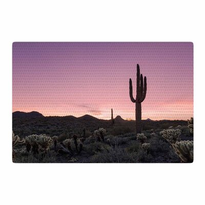 Tucson Sunset Tags Purple/Black Area Rug Rug Size: 2 x 3
