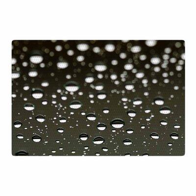 Kristi Jackson Rain Bokeh White/Black Area Rug Rug Size: 2 x 3