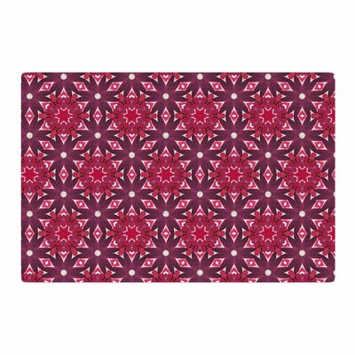 Laura Nicholson Blooming Echinacea Floral Magenta Area Rug Rug Size: 2 x 3