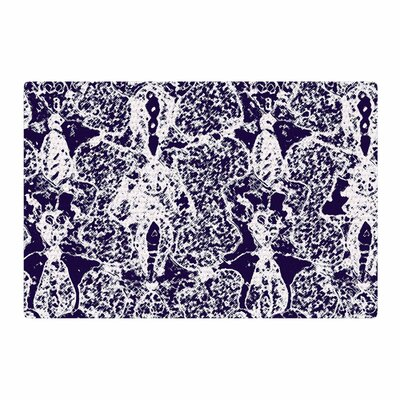 Laura Nicholson Loony Lace Illustration Blue Area Rug Rug Size: 4 x 6