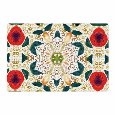 Laura Nicholson Persimmons and Peaches Abstract Red Area Rug Rug Size: 4 x 6