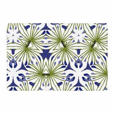 Laura Nicholson Thalia Floral Olive Area Rug Rug Size: 2 x 3